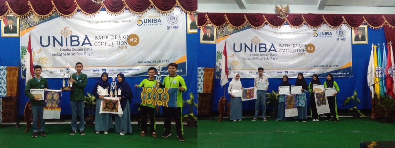 """Juara I & Harapan II dalam Acara """"UNIBA BATIK DESIGN COMPETITION"""""""