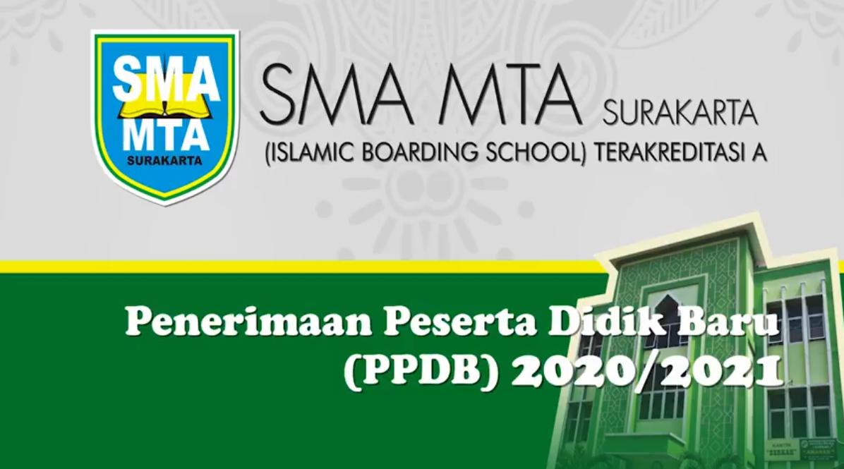 PPDB SMA MTA Surakarta 2020/2021