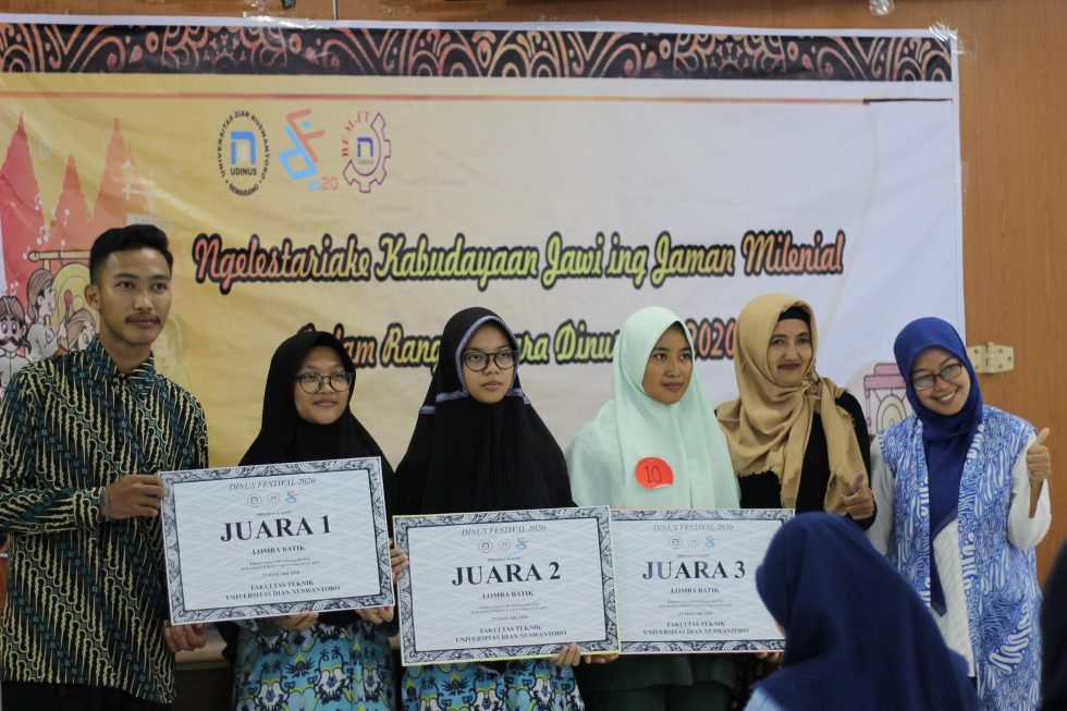 SMA MTA Surakarta Juara Membatik Tingkat Nasional Mufida Salma Nabilah juara 1 Virdanisa juara 2